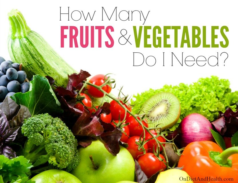 How many fruits and vegetables do I need on a #glutenfree #paleo diet? // OnDietAndHealth.com