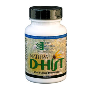 D-Hist capsules contain Quercitin, Stinging Nettle and Bromelain for allergy support
