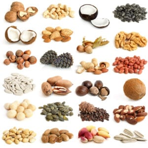 A wide variety of nuts and seeds can be enjoyed on the Paleo diet