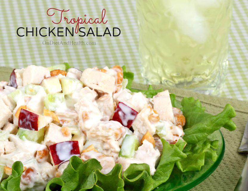 Tropical Chicken Salad // OnDietAndHealth.com