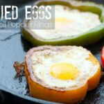 Paleo Fried Eggs in Bell Pepper Rings