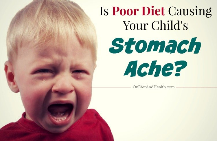 Poor diet and stomach aches in children