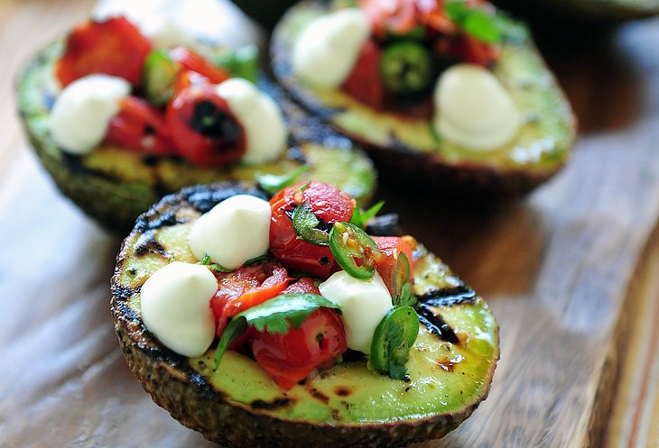 Grilled Avocado with Salsa
