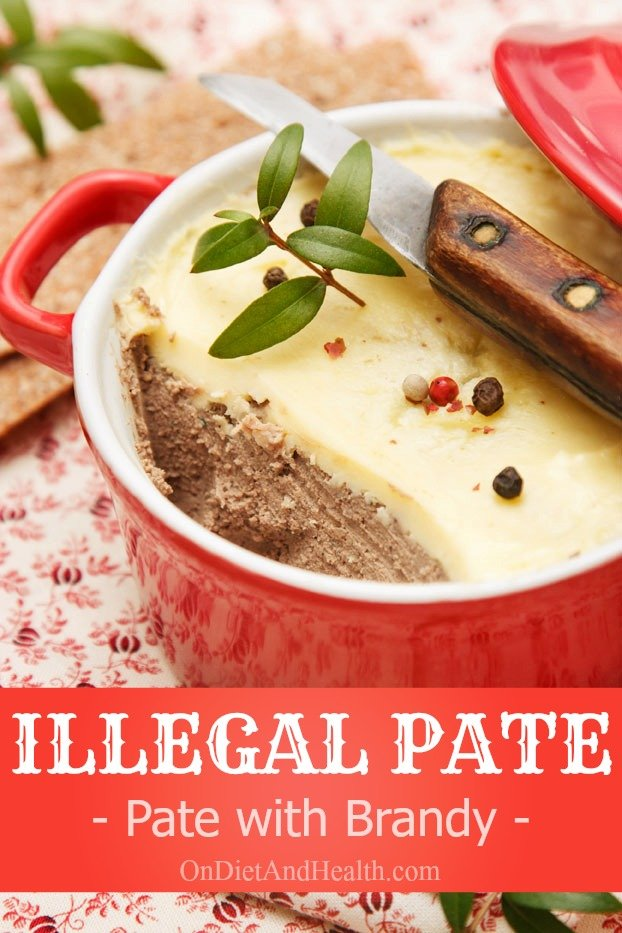 pate in a ramekin with knife on top