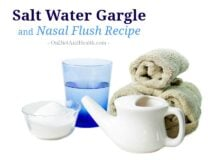 Salt water gargle and nasal flush recipe (Neti Pot) // OnDietAndHealth.com #sinushealth #netipot #naturalhealth