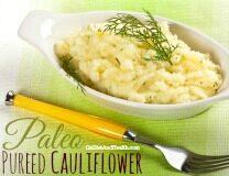 Paleo Pureed Cauliflower