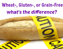 Wheat Free, Gluten Free, Grain Free – What's the Difference?