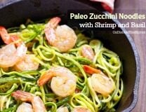 Paleo Zucchini Noodles with Shrimp and Basil - OnDietAndHealth.com