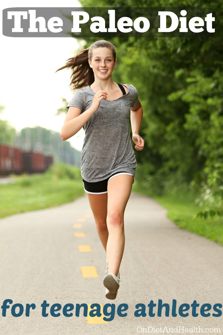 Teenage girl running and smiling