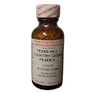 Homeopathic Cedar Allergy Relief