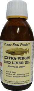 Extra Virgin Cod Liver Oil Rosita bottle