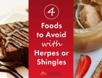 Common foods to avoid with Herpes or Shingles inlcude these chocolate brownies with nuts, coconut flour and grains