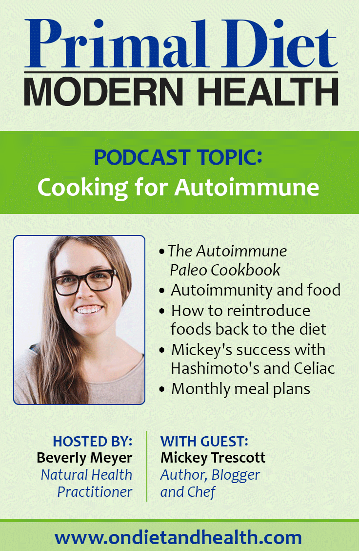 "Living with an autoimmune disorder? It may be hard to believe, but it is absolutely possible to change your future.  Thousands of us have done it, and with nothing more ""medical"" than eating great food and making lifestyle changes. What a concept! Let's talk about The Autoimmune Paleo Cookbook by Mickey Trescott and see what you can do to reverse it! // OnDietandHealth.com"