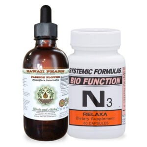 bottles of N3 Relaxa and Hawaii Pharm Passion Flower