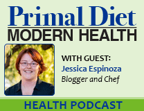 Primal Diet Modern Health podcast with guest Jessica Espinoza discussing the amazing healing properties of coconut oil