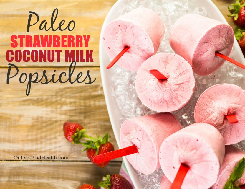 Delicious and simple strawberry coconut milk popsicles to beat the summer heat!