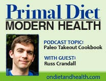 Russ Crandall Paleo Takeout Cookbook - Primal Diet Modern Health Podcast by Beverly Meyer