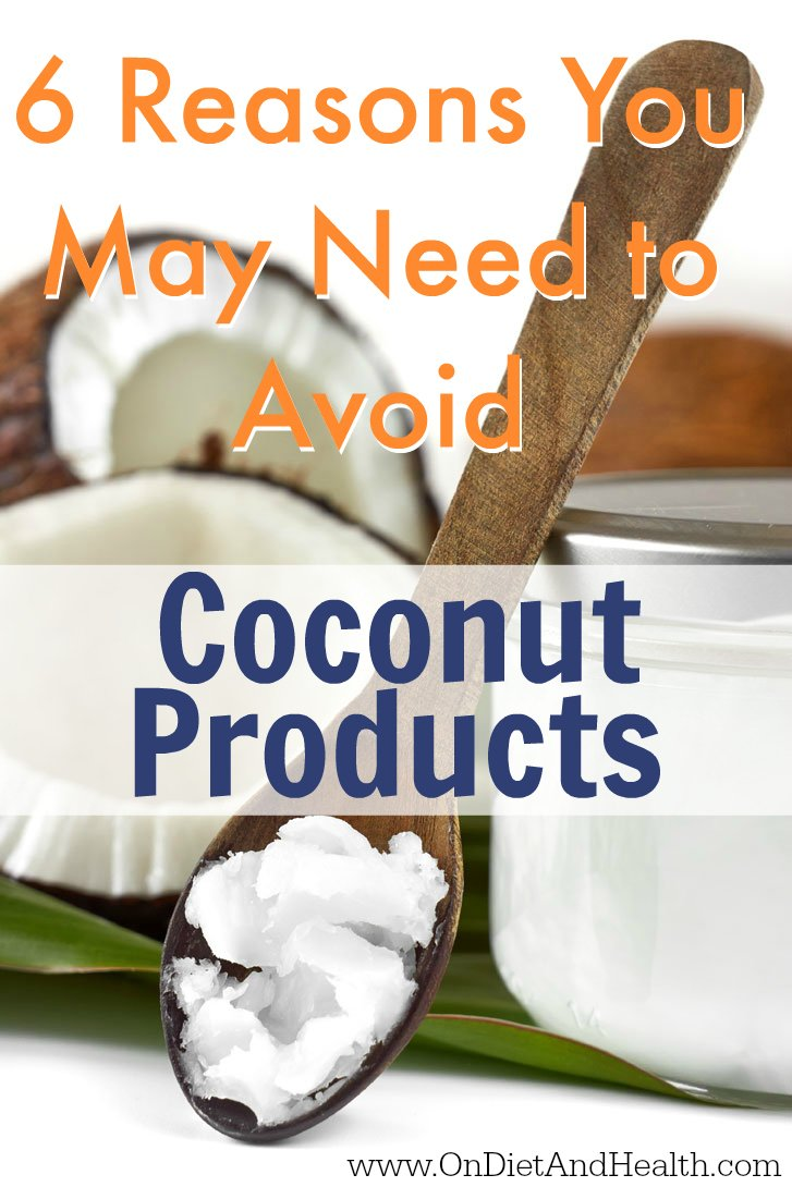 Here are 6 reasons to consider avoiding coconut flour products, including coconut milk, flour and flakes. One reason includes if you struggle with Herpes or Shingles, or perhaps Epstein Barr virus.  What about coconut water and canned coconut milk? There are other reasons you may want to avoid them. //OnDietandHealth.com