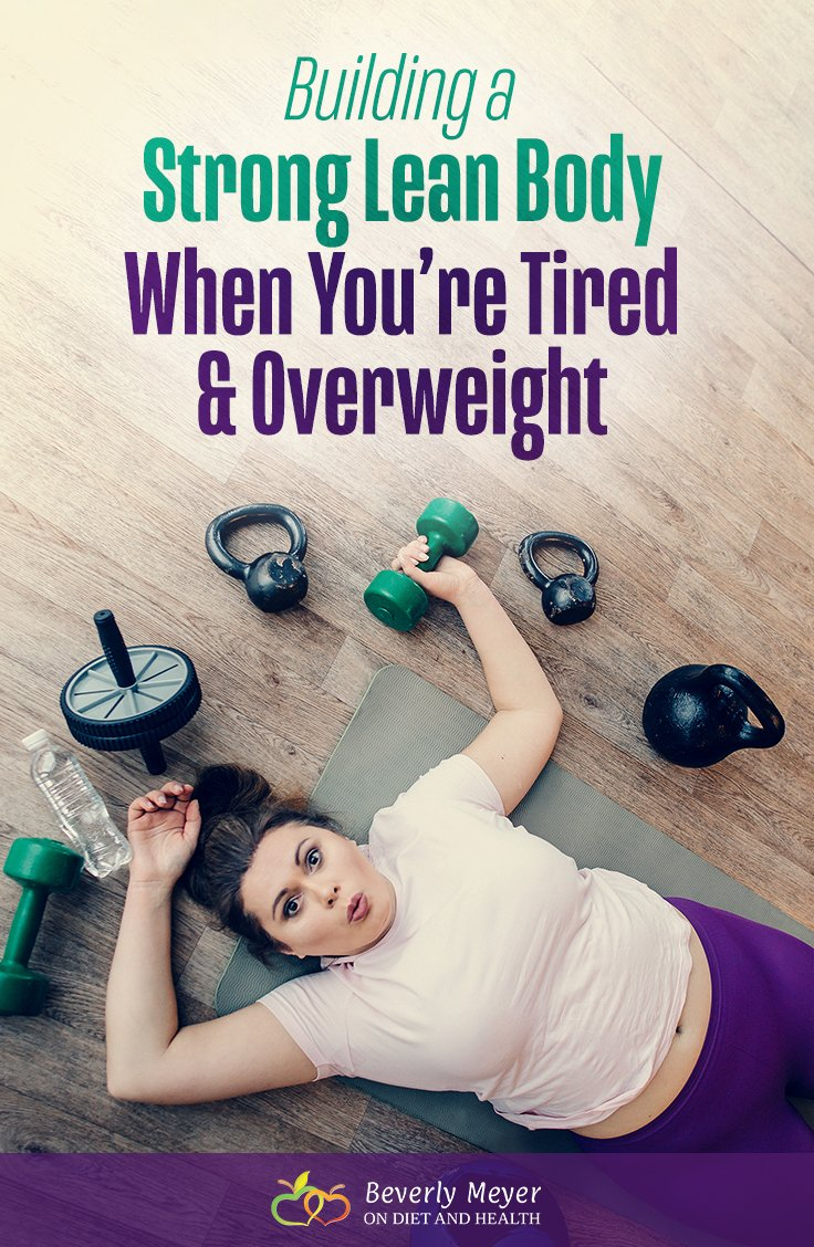 Tired and Overweight Woman Exercising Lies on the Floor with Exercise Equipment