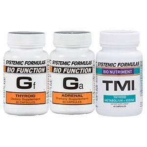 Gf Ga and TMI trio - Hormone Multi Pack - Thyroid, Adrenal and Iodine Support
