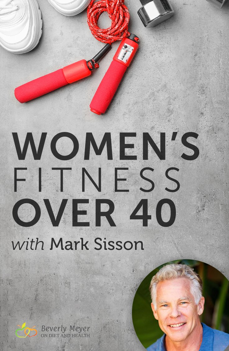 Exercise equipment and gym shoes with image of Mark Sisson's face