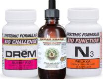 3 bottles of Passion Flower, DReM and N3 Relaxa