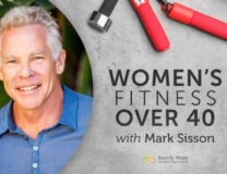 Exercise equipment and image of Mark Sisson, suthor