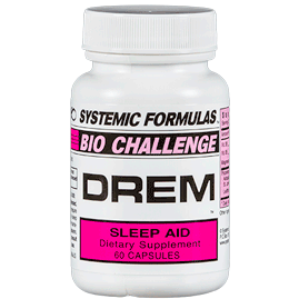 Bottle of Systemic Formulas DREM sleep aid