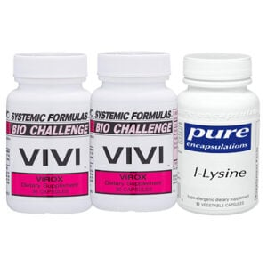 Anti-Viral Multi Pack with Systemic Formulas VIVI Virox and Pure Encapsulations l-Lysine Supplement for Shingles and #Herpes Relief // OnDietAndHealth.com
