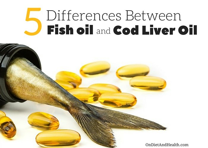 5 Differences between Fish Oil and Cod Liver Oil // OnDietAndHealth.com