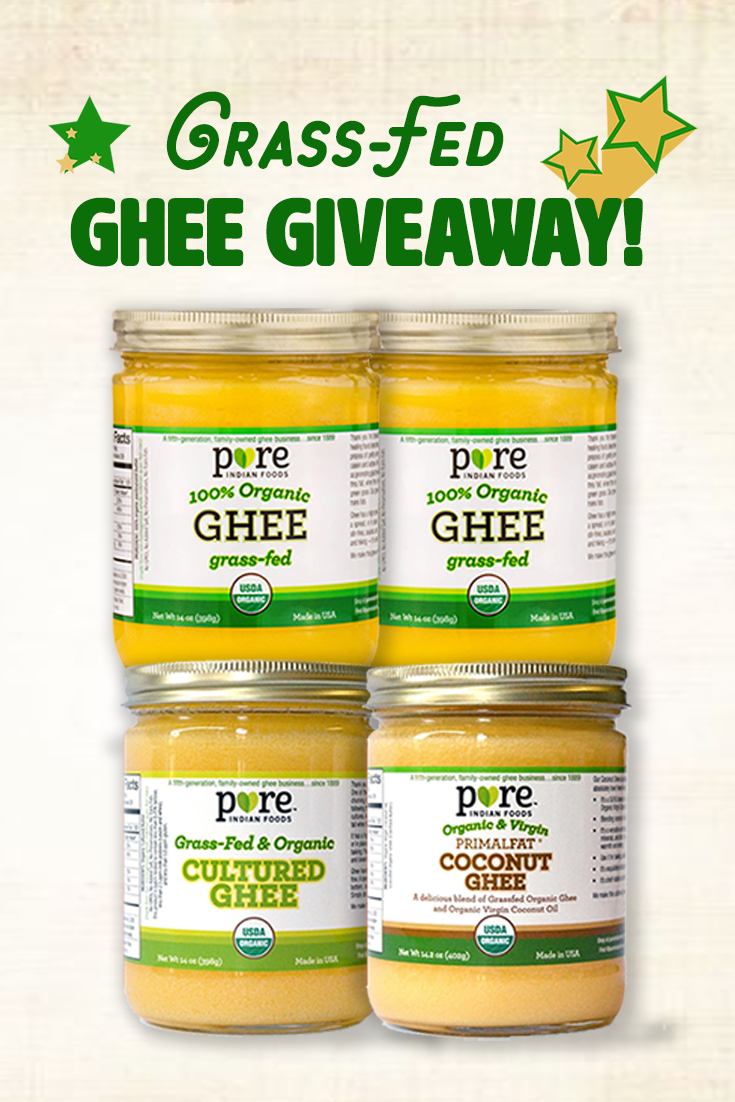 Pure Indian Foods to bring you this great grass fed ghee giveaway! // OnDietAndHealth.com