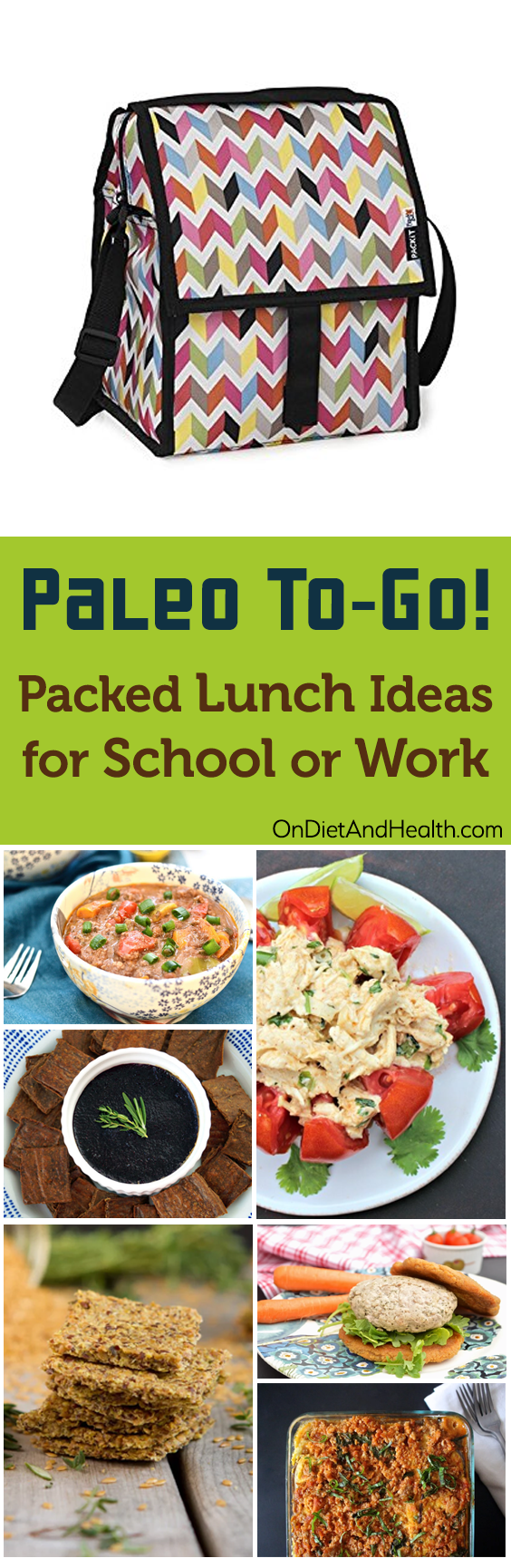Paleo To-Go! Packed Lunch Ideas for School or Work // OnDietAndHealth.com
