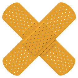 Picture of 2 band-aids
