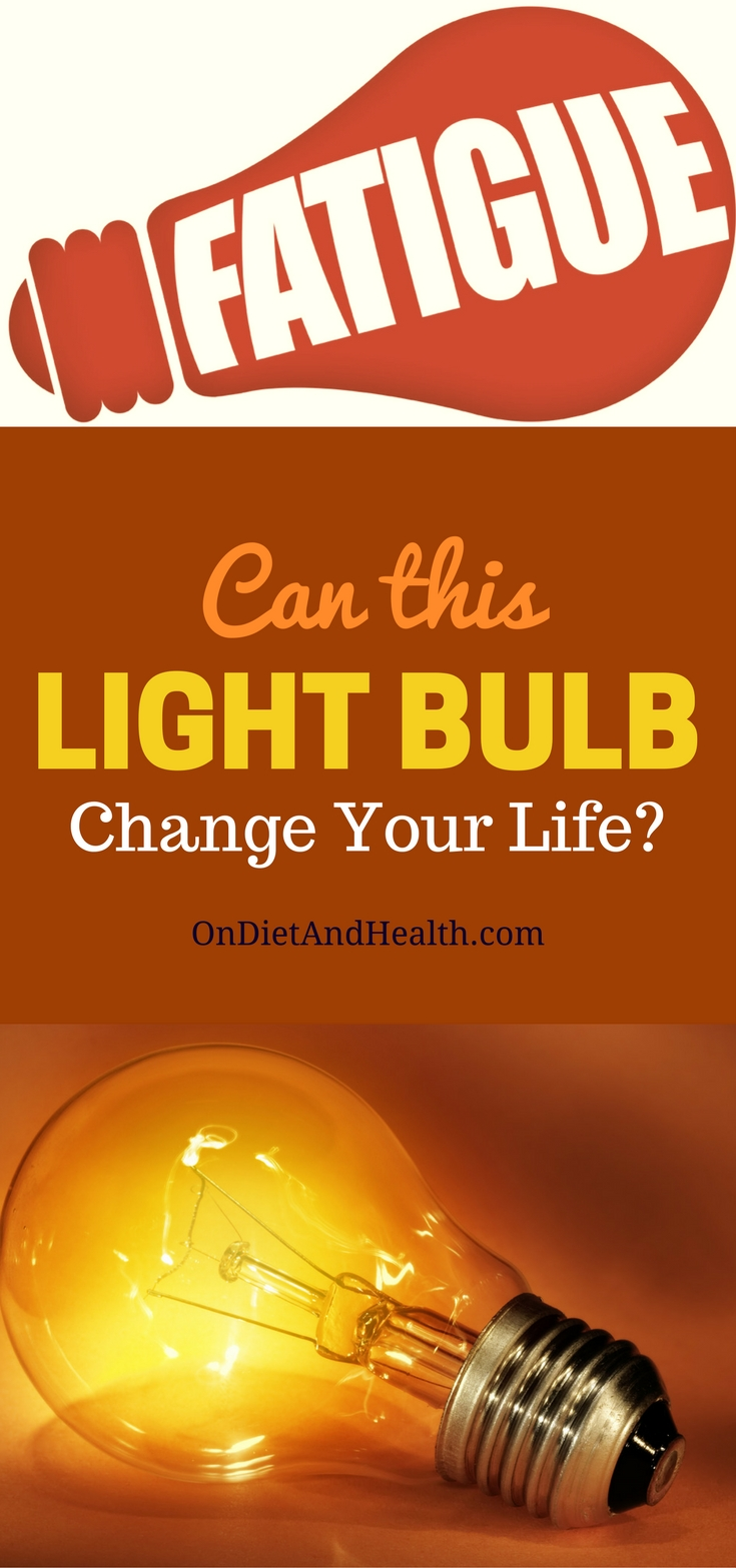 Light bulb on an orange background