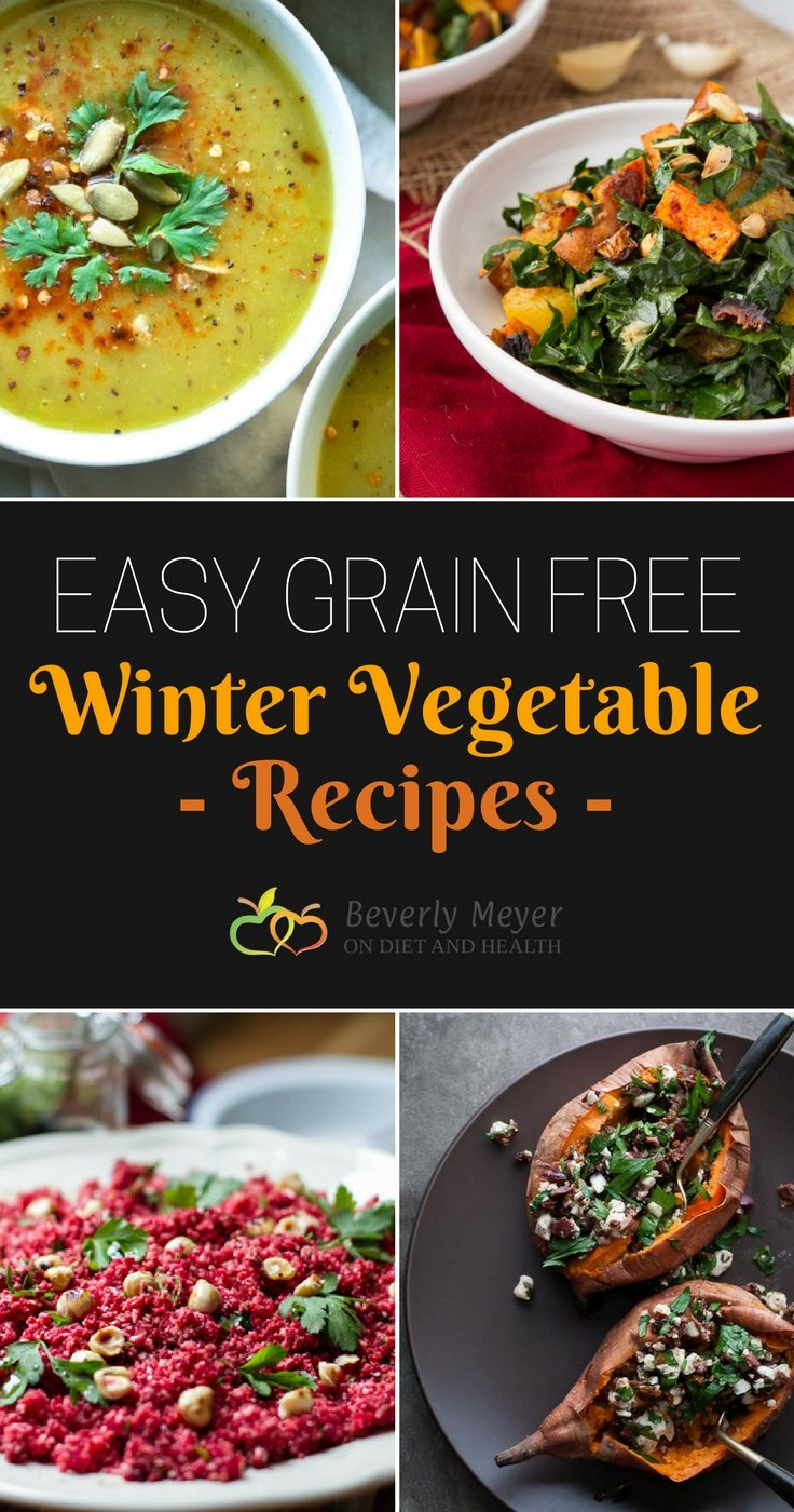A big variety of Easy grain free Winter vegetable recipes to bring color to your kitchen. Take one for Pot Luck or make it a new family favorite. No one will know these are Paleo approved! //OnDietandHealth.com