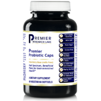 Premier Research Labs Probiotic Caps are uniquely made from fermented foods. No refrigeration required. Organic and GMO free.