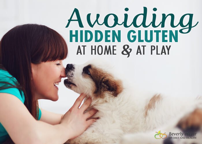 Avoiding Hidden Gluten includes finding gluten in pet kibble, makeup, coffee, Sushi and more