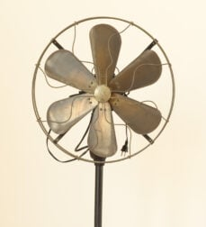 Get a fan blowing on you quickly for heat stroke