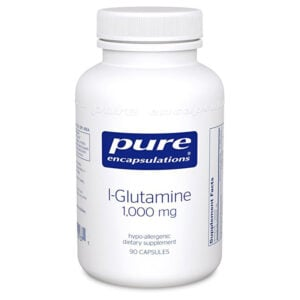 Pure Encapsulations L-Glutamine 100 mg. capsules for Leaky Gut and Gut Repair