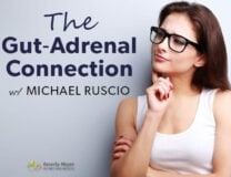 Healthy woman thinking about health. Is the Gut-Adrenal Connection with Michael Ruscio. Is this causing fatigue, bloating or insomnia?