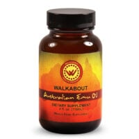 A bottle of Walkabout Emu Oil 4 oz. liquid supplement