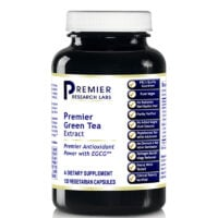 A bottle of Premier Research Labs Green Tea Extract