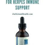 Bottle of Melissa Lemon Balm extract for calming and herpes support
