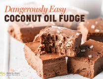 a plate of easy coconut oil fudge
