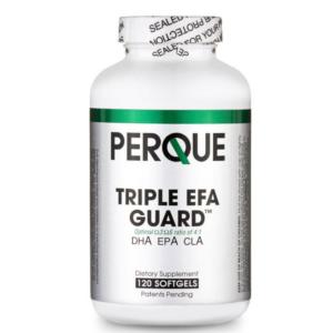 A bottle of Perque Triple EFA Guard