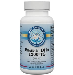 A bottle of DHA supplements