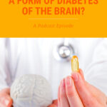 Doctor holds a capsule of Fish Oil supplement and a small model of the Brain