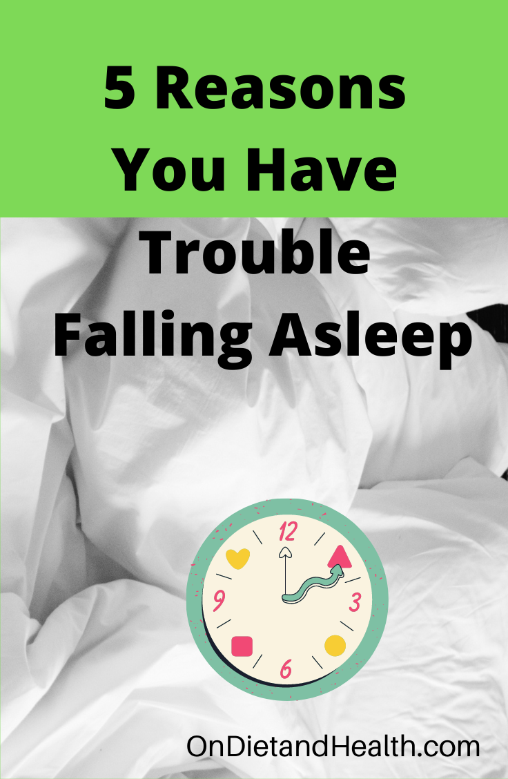 White sheets and a crazy clock asking reasons you have trouble falling asleep