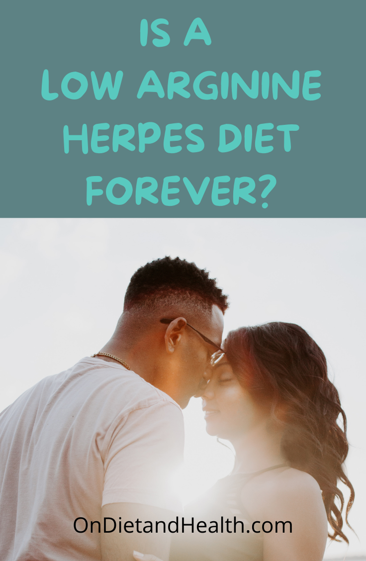 Young couple in the sun may want to know if low arginine herpes diet foods are restricted forever
